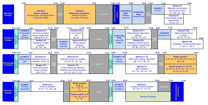 Program schedule (short)